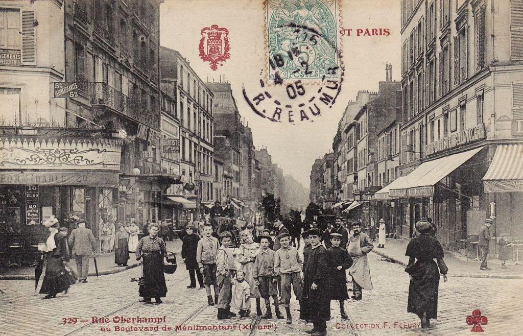 Rue-Oberkampf-au-Boulevard-de-Me-nilmontant-XIe-arrt-